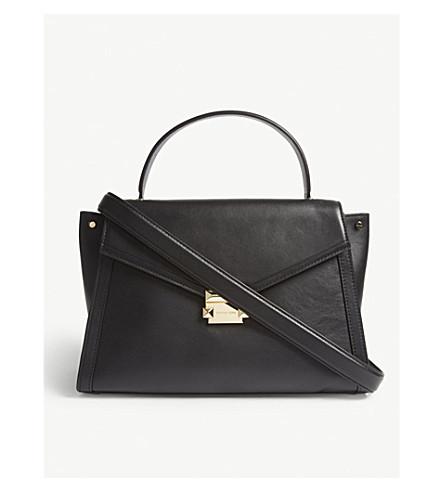 Whitney large leather satchel