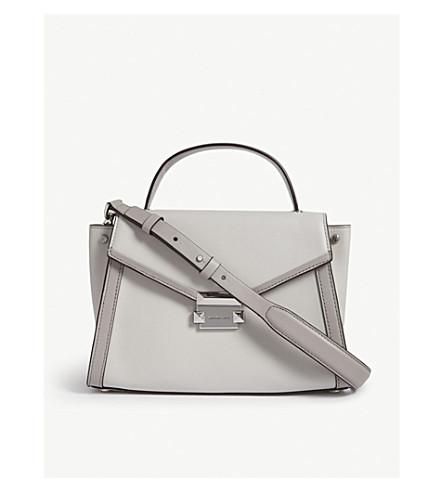 MICHAEL MICHAEL KORS Whitney leather messenger bag (Alumin/prgry