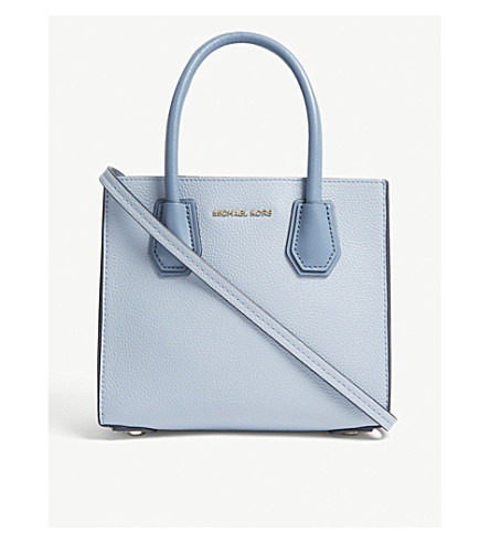 MICHAEL MICHAEL KORS Mercer grained leather tote (Pale+blue