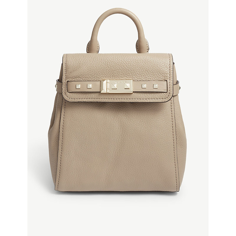 Addison small leather backpack
