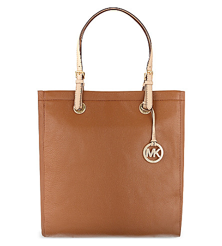 MICHAEL MICHAEL KORS Jet Set leather tote (Luggage