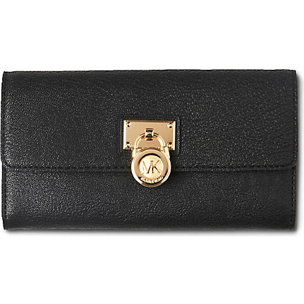 MICHAEL KORS Hamilton large wallet gold (Black