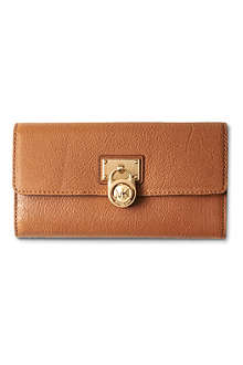 MICHAEL KORS Hamilton large wallet gold