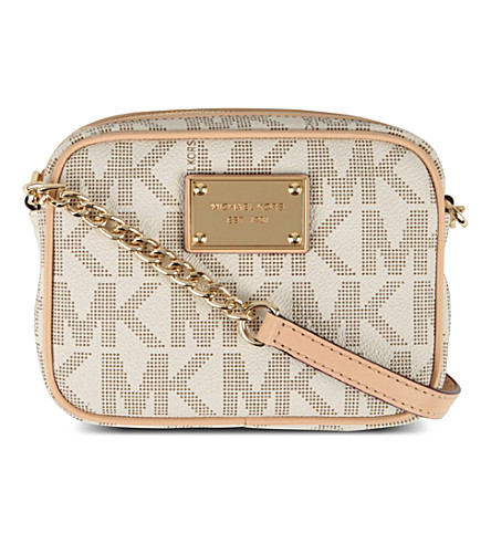 MICHAEL MICHAEL KORS Jet Set leather shoulder bag (Vanilla