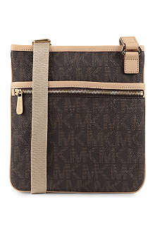 MICHAEL KORS Jet Set saffiano leather cross-body bag