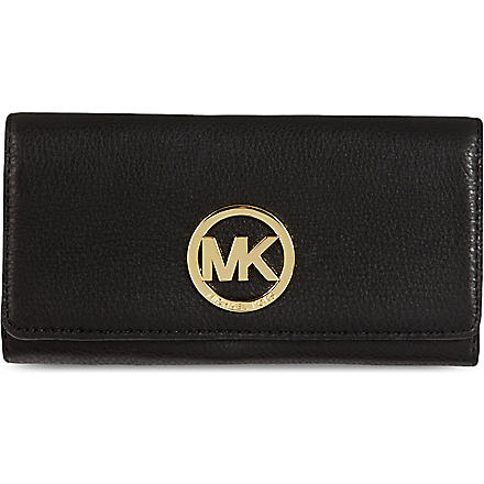 MICHAEL KORS Logo leather wallet (Black