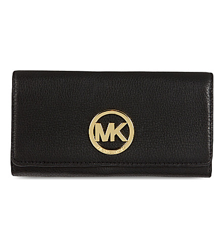 MICHAEL MICHAEL KORS Plaque-detail leather wallet (Black