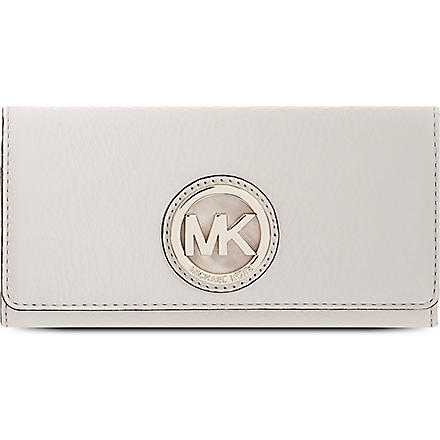 MICHAEL KORS Logo leather wallet (Vanilla