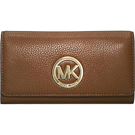 MICHAEL KORS Logo leather wallet (Luggage