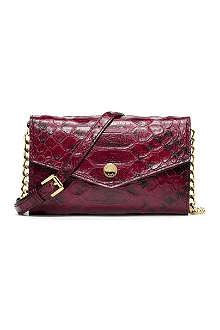 MICHAEL KORS Mock-python leather iPhone cross-body bag