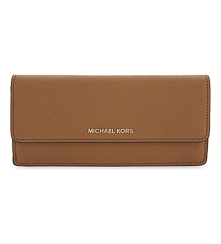 MICHAEL MICHAEL KORS Jet Set Saffiano leather wallet (Acorn