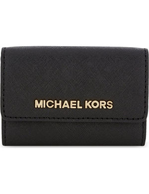 MICHAEL MICHAEL KORS Jet Set Travel saffiano leather coin purse