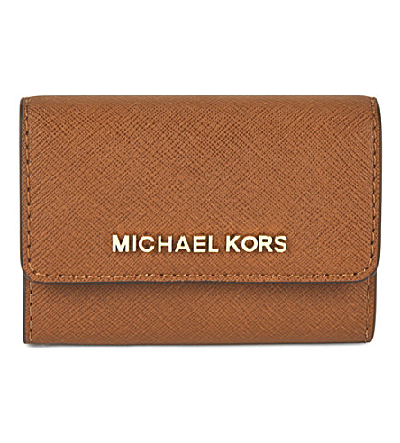 MICHAEL MICHAEL KORS Jet set travel saffiano leather coin purse (Luggage