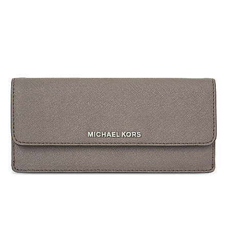 MICHAEL MICHAEL KORS Jet Set Travel flat leather wallet (Cinder