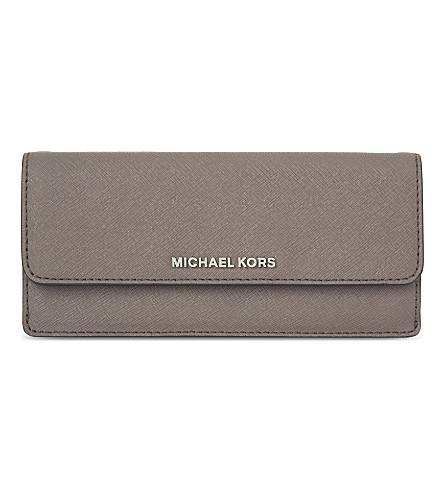 MICHAEL MICHAEL KORS Jet Set Travel flat leather wallet (Cinder