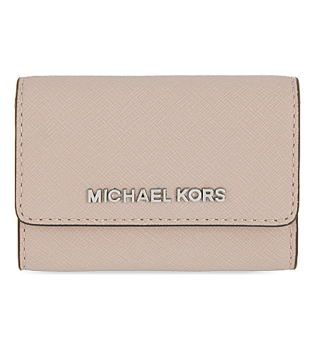 MICHAEL MICHAEL KORS Jet Set Travel saffiano leather coin purse (Ballet