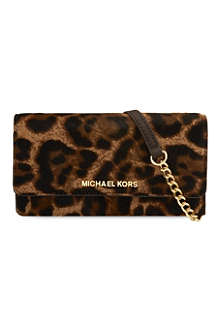 MICHAEL KORS Leopard print cross body purse