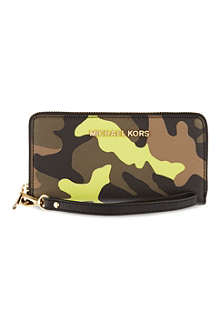 MICHAEL KORS Jet Set travel leather phone case