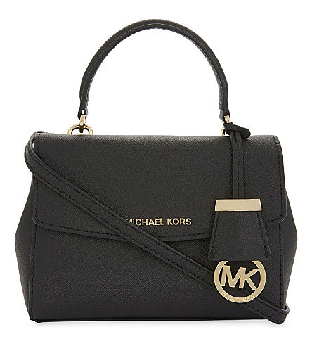 MICHAEL MICHAEL KORS Ava extra small Saffiano leather cross body bag (Black