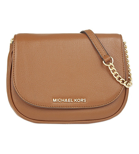 MICHAEL MICHAEL KORS Bedford small leather cross-body bag (Luggage