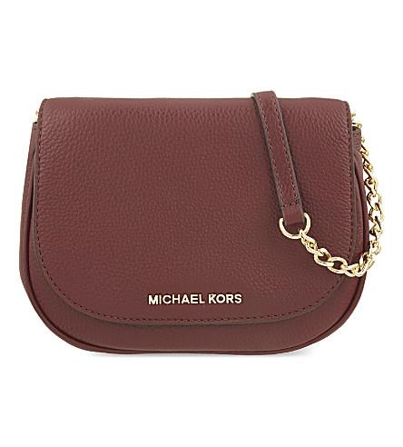 MICHAEL MICHAEL KORS Bedford small leather cross-body bag (Merlot
