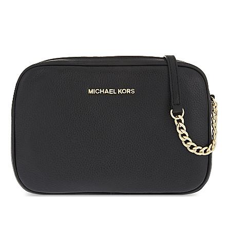 MICHAEL MICHAEL KORS Bedford leather cross-body bag (Black
