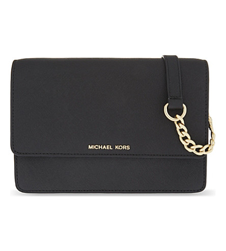 MICHAEL MICHAEL KORS Daniela small leather cross-body bag (Black