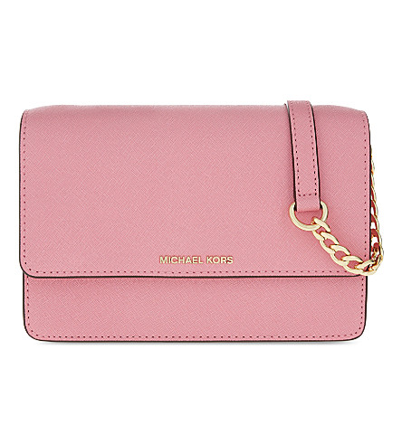 MICHAEL MICHAEL KORS Daniela small leather cross-body bag (Misty+rose