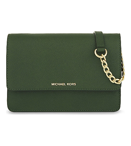 MICHAEL MICHAEL KORS Daniela small leather cross-body bag (Moss
