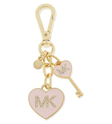 MICHAEL MICHAEL KORS Heart and key charm (Powder pink