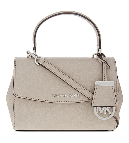 MICHAEL MICHAEL KORS Ava extra-small Saffiano leather cross-body bag (Cement