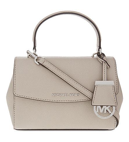 MICHAEL MICHAEL KORS Ava extra-small Saffiano leather cross-body bag (Cement