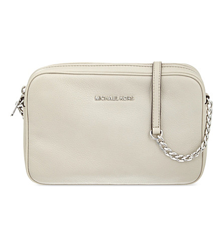 MICHAEL MICHAEL KORS Bedford large leather cross-body bag (Cement