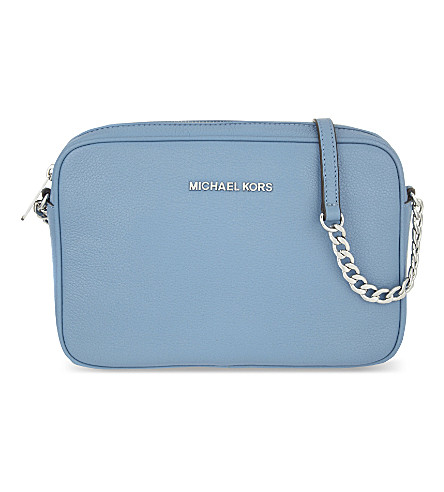 MICHAEL MICHAEL KORS Bedford large leather cross-body bag (Sky