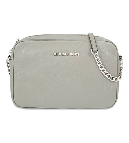 MICHAEL MICHAEL KORS Bedford large leather cross-body bag (Steel grey