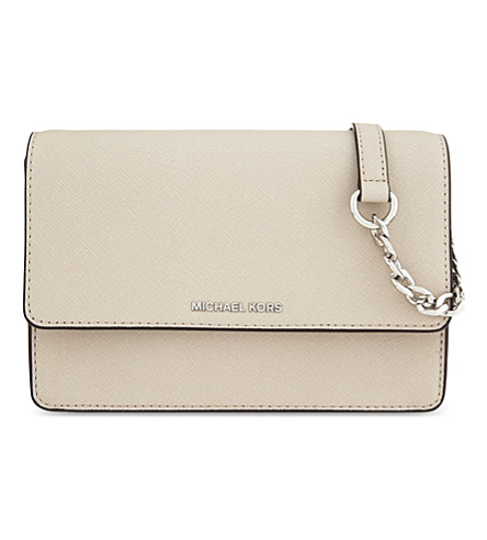 MICHAEL MICHAEL KORS Daniela small leather cross-body bag (Cement