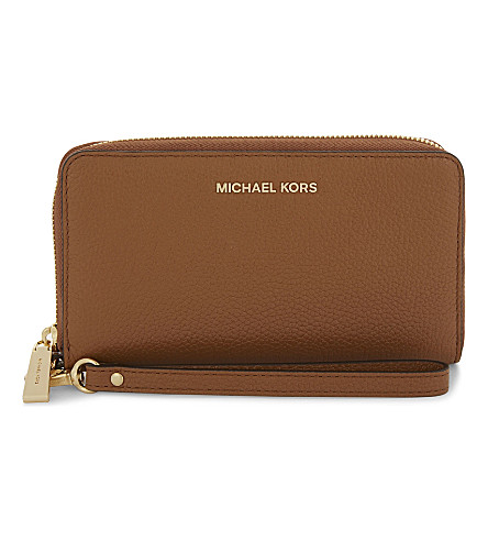 MICHAEL MICHAEL KORS Mercer large grained leather multi-function wallet (Acorn