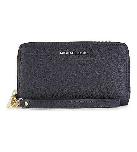 MICHAEL MICHAEL KORS Mercer large grained leather multi-function wallet (Admiral