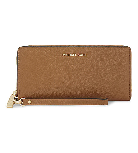 MICHAEL MICHAEL KORS Money Pieces leather continental wallet (Acorn