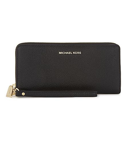 MICHAEL MICHAEL KORS Money Pieces leather continental wallet (Black