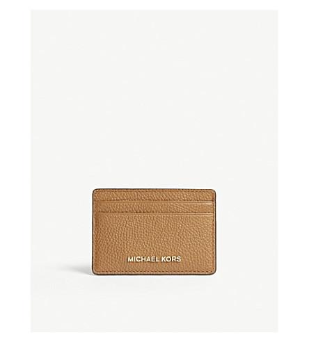 MICHAEL MICHAEL KORS钱块粒度皮革卡持有人 (橡子