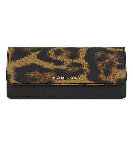 MICHAEL MICHAEL KORS Saffiano leather wallet (Butterscotch
