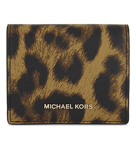 MICHAEL MICHAEL KORS Mercer leather card case (Butterscotch
