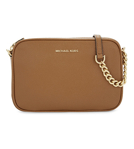 MICHAEL MICHAEL KORS Ginny medium grained leather cross-body bag (Acorn