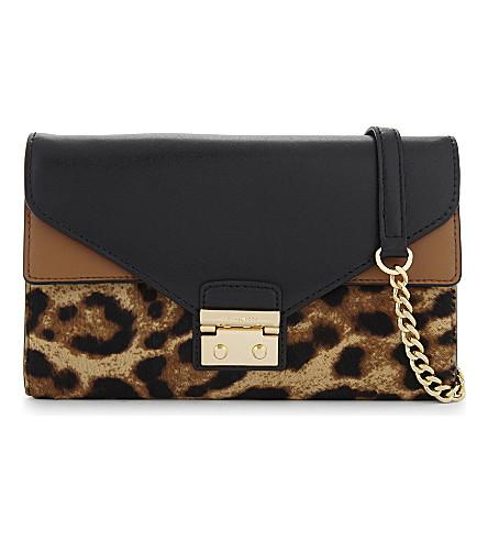 MICHAEL MICHAEL KORS Sloan large leather wallet-on-chain (Btrsctch/acr