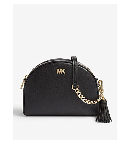 MICHAEL MICHAEL KORS - Half-moon pebbled leather shoulder bag ... 3f912295e9a9e