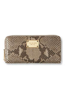 MICHAEL KORS Jet Set python-print leather wallet