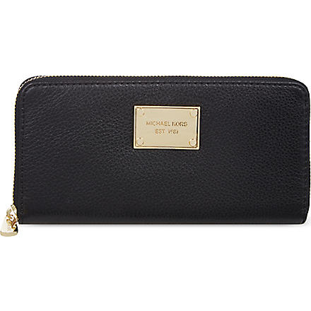 MICHAEL MICHAEL KORS Jet set python-embossed continental wallet (Black