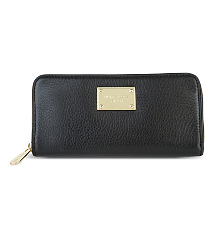 MICHAEL MICHAEL KORS Jet Set pebbled leather wallet (Black