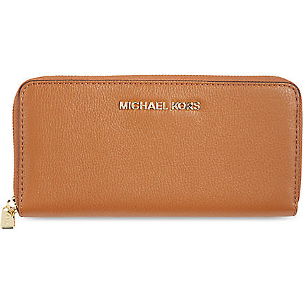 MICHAEL KORS Bedford leather wallet (Luggage